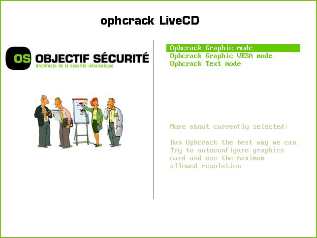 ophcrack-livecd-main-menu
